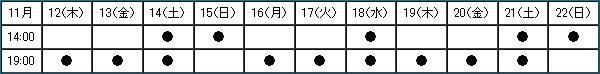 ダイナリィタイムテーブル
